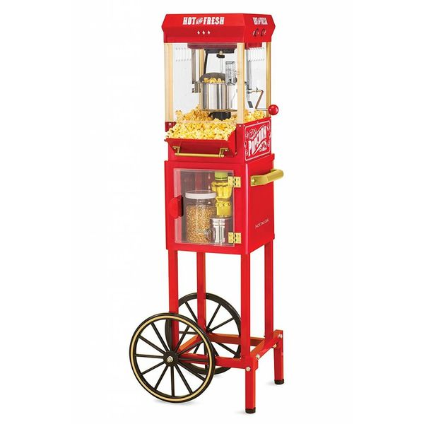Nostalgia Electrics Old Fashioned Kettle Popcorn Maker Cart