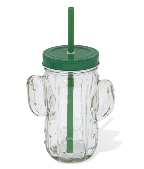 H2K Cactus Jar with Lid and Straw