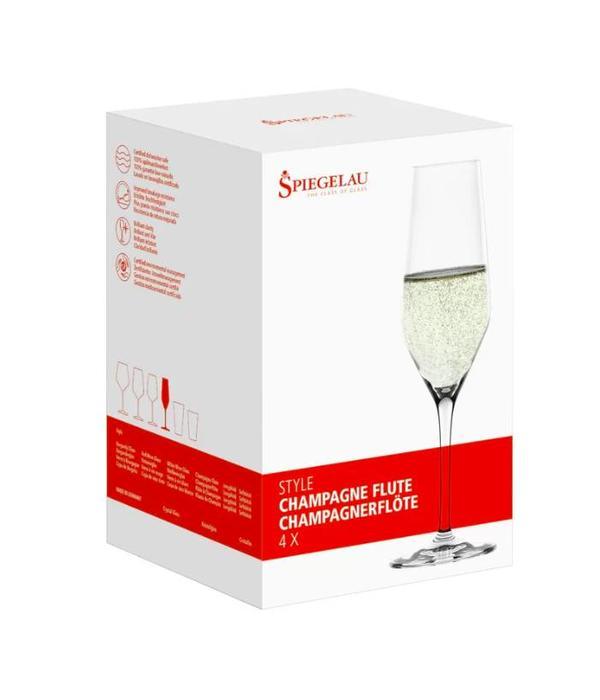 "Spiegelau Spiegelau Set of 4 Champagne ""Style"" Glasses"