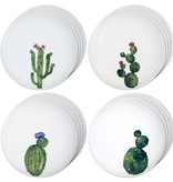 """Ensemble de 4 assiettes """"Cactus"""" par H2K"""