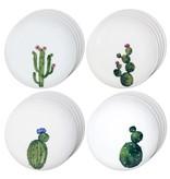 """Set of 4 H2K """"Cactus"""" Ceramic Plates"""
