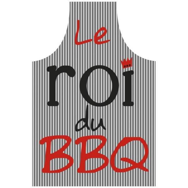 """Tablier """"Le roi du BBQ"""" - Gris  par A&A"""