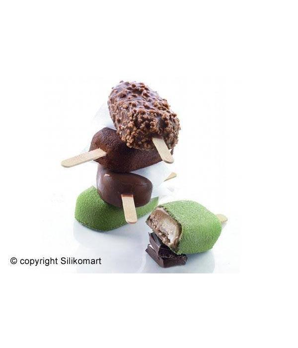 """Silikomart Silikomart  """"Classic""""  Set of 2 Ice Cream Molds"""