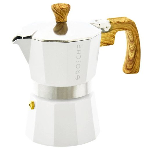 """Grosche Grosche """"Milano"""" 9 Cup Stovetop Espresso Maker White"""