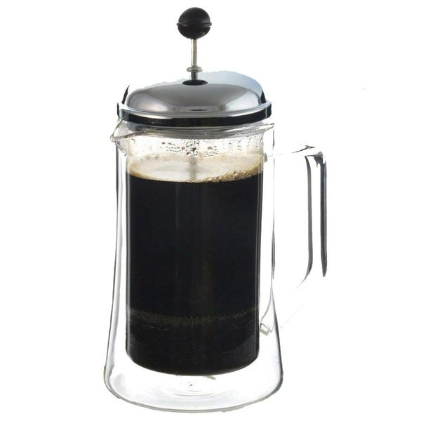 """Grosche """"Stanford"""" Double Walled Glass French Press"""