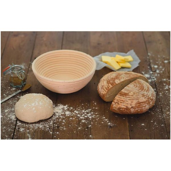 Eddingtons Angled Round Banneton Proving Bread Making Basket