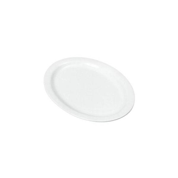Assiette ovale blanche 24cm Johnson Rose