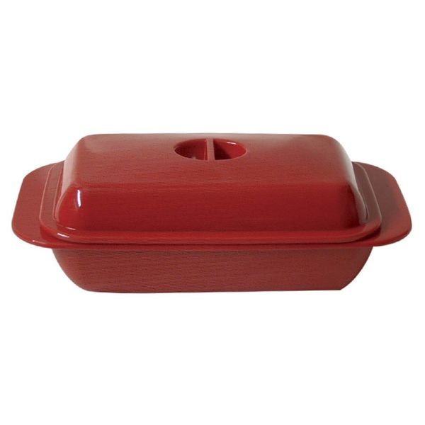 Kitchen Basics Melamine Butter Dish Red