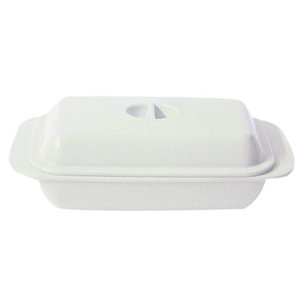 Kitchen Basics Melamine Butter Dish White