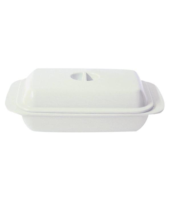 Beurrier en mélamine blanc de Kitchen Basics