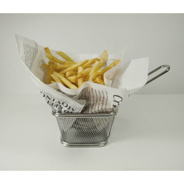 Port-Style Stainless Steel French Fry Basket