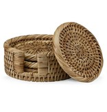 Lenox The French Chefs™ 4-piece Rattan Round Coasters Set