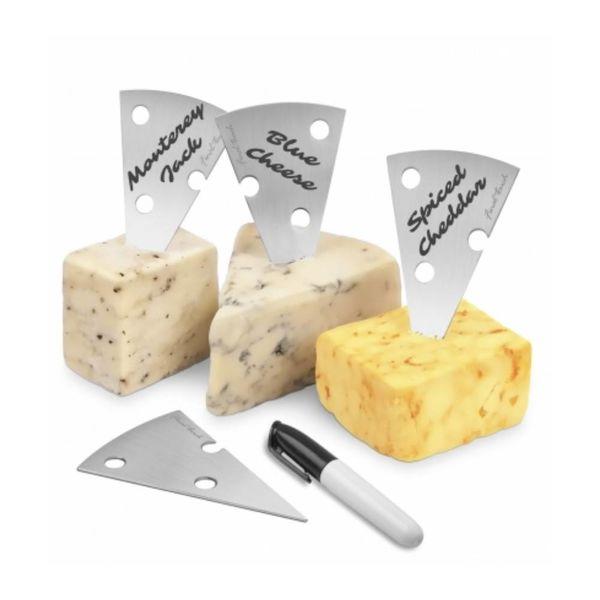 Ensemble 4 marqueurs à fromage avec feutre Final Touch