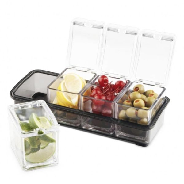 Final Touch 5 Piece Garnish Bar Caddy
