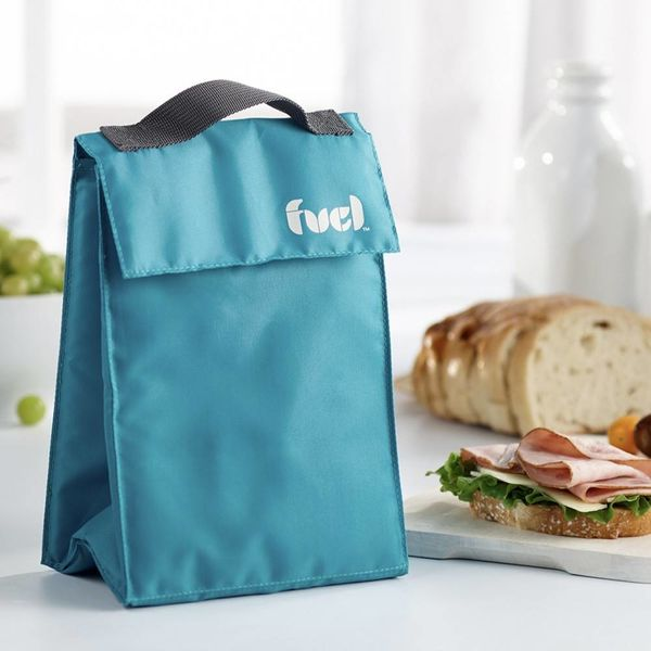 "Trudeau Tropical Blue ""Fuel"" Lunch Bag"