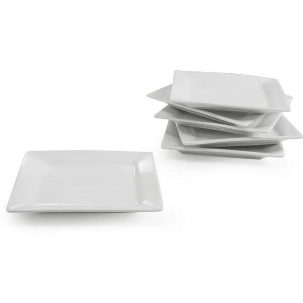 BIA Jeu de 6 assiettes canapé CLASSIC