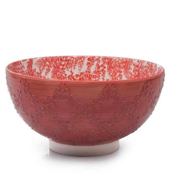 "BIA ""Trellis"" Serving Bowl Coral"