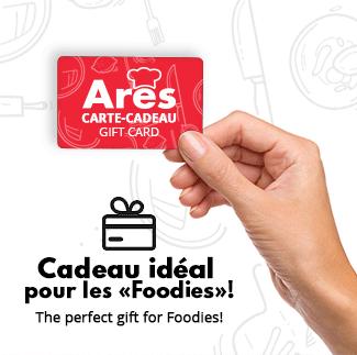 Offrez une carte-cadeau ARES pour les Foodies dans votre vie!