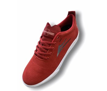 Lakai X Independent Bristol Red Suede Shoes
