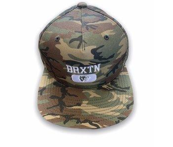 Brixton Forte VI Woodland Snapback Hat