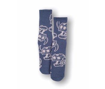 Toy Machine Monster Skull Blue Socks