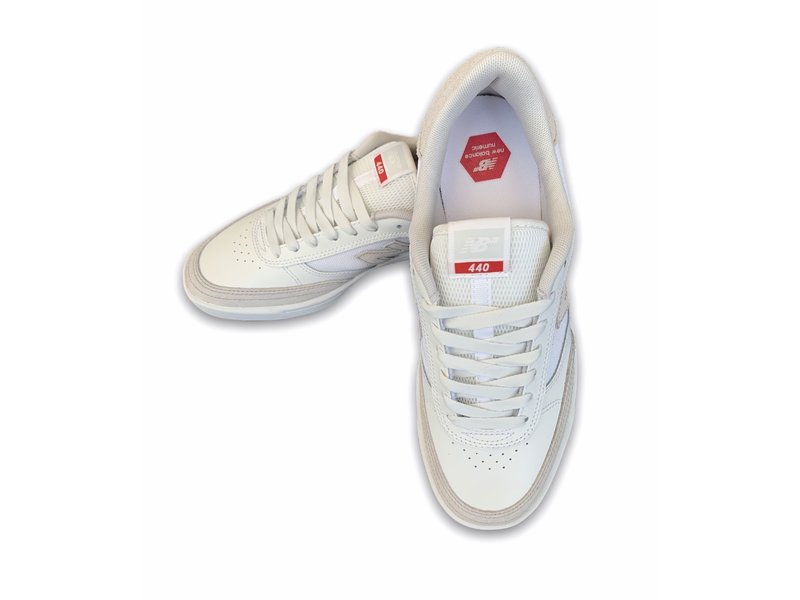 New Balance New Balance Numeric 440 White/Red Leather Shoes