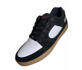 Es Accel Slim Menikmati Black/White/Gum Shoes
