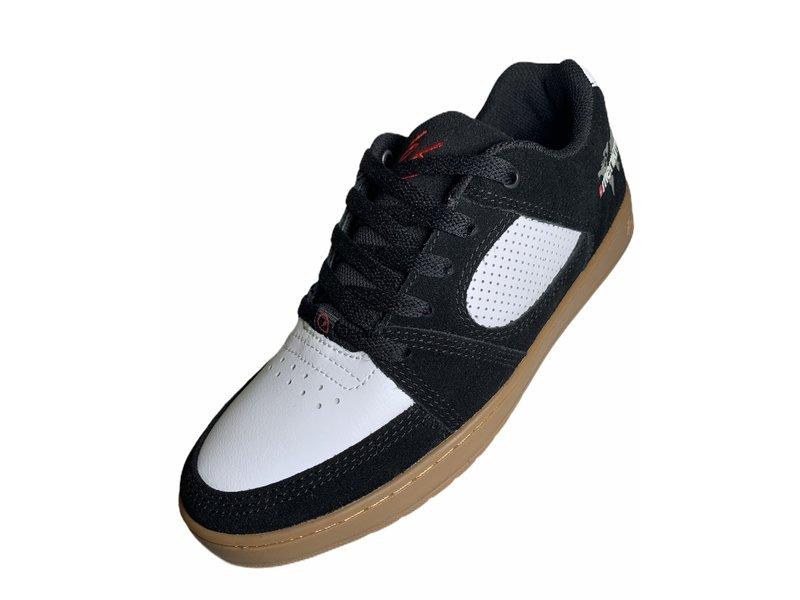 Es Es Accel Slim Menikmati Black/White/Gum Shoes