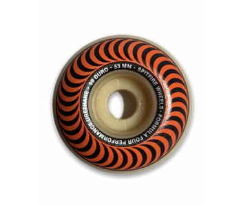 Spitfire F4 Classic Swirl Orange 99A 53MM Wheels