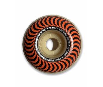 Spitfire F4 Classic Swirl Orange 99A 53MM Wheels