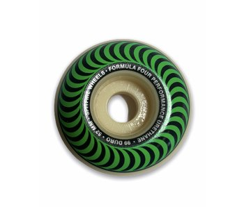 Spitfire F4 Classic Swirl Green 99A 52MM Wheels