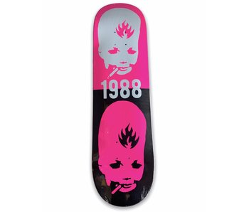 Black Label Thumbhead Stacked Pink 8.5 Deck