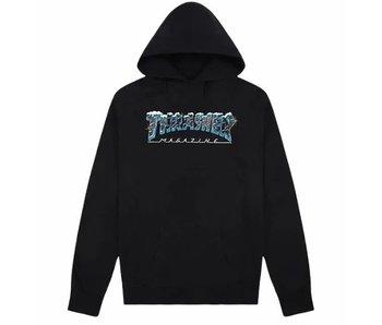 Thrasher Black Ice Hooded Sweatshirt