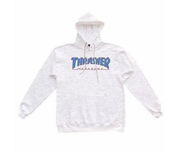 Thrasher Outlined Ash Grey/Blue/Red Hoodie