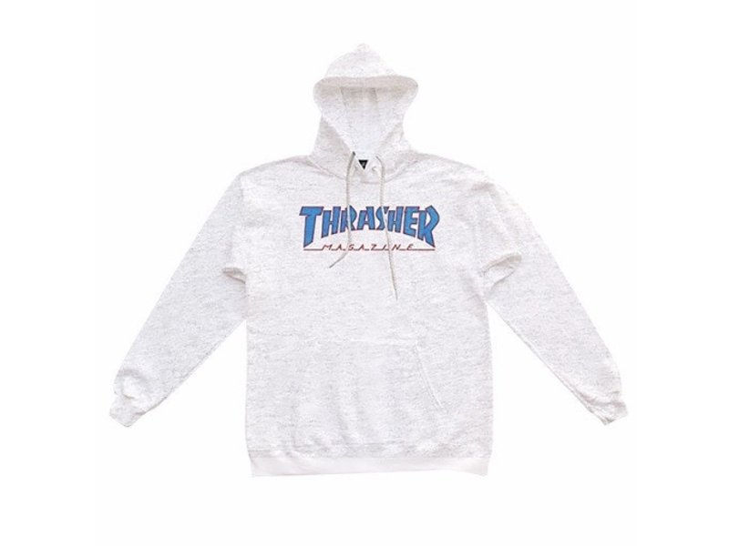 Thrasher Thrasher Outlined Ash Grey/Blue/Red Hoodie