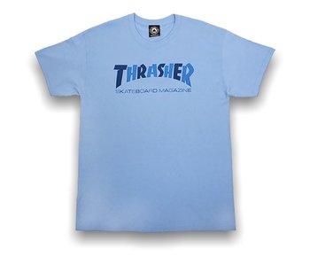 Thrasher Checkers Carolina Blue SS Tee