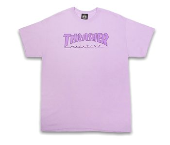 Thrasher Outlined Orchid SS Tee