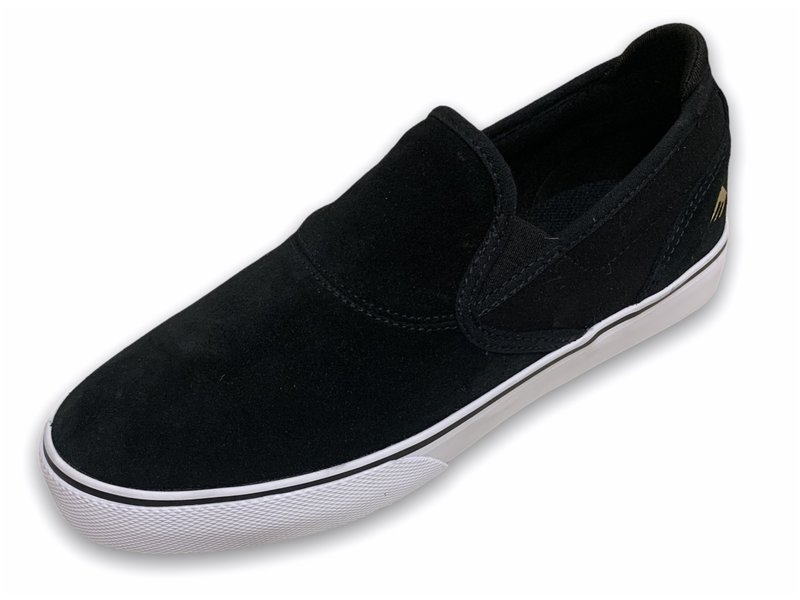 Emerica Emerica Youth Wino Slip-On Black/ White Shoe