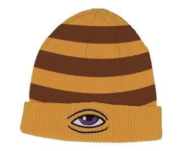 Toy Machine Sect Eye Stripe Mustard Beanie
