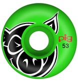 Pig Pig Head Green Proline 53MM Wheels
