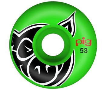 Pig Head Green Proline 53MM Wheels