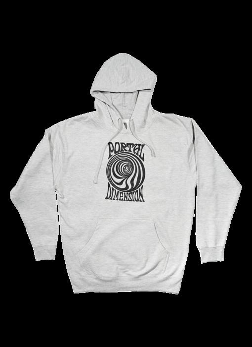 Portal Dimension Portal Swirl Grey Hoody