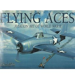 FLYING ACES, AVIATION ART OF WWII - USED,  GOOD