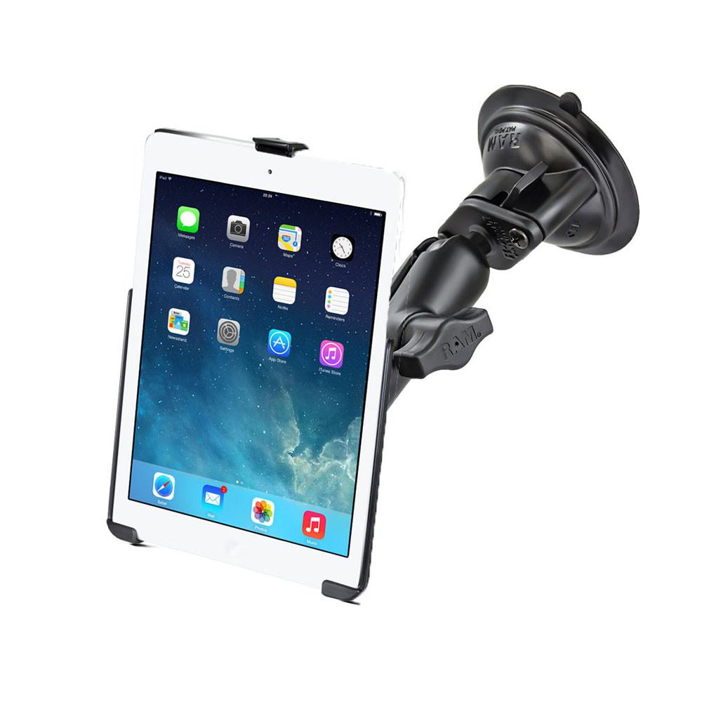 "RAM SINGLE SUCTION CUP DOUBLE SOCKET, MEDIUM (3.69"") iPad Air 1-2 EZ-ROLL'R"