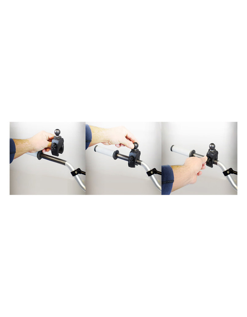 """RAM Small Tough-Claw with 1"""" Diameter Rubber Ball"""