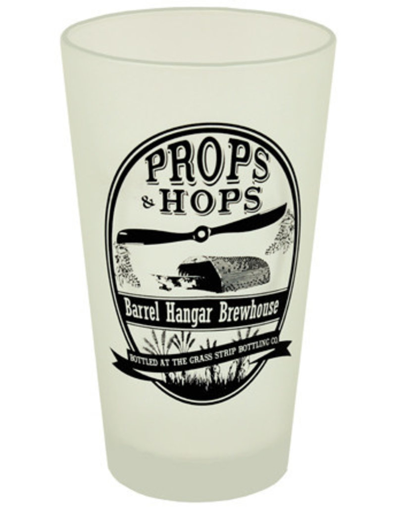 Props and Hops Frosted Pint Glass