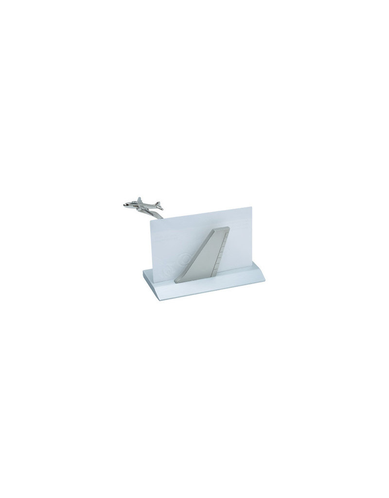 BUSINESS CARD HOLDER, AIRPLANE, SILVER