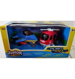 Junior Racers Push N'go Powered 2PK Jet & Helicopter