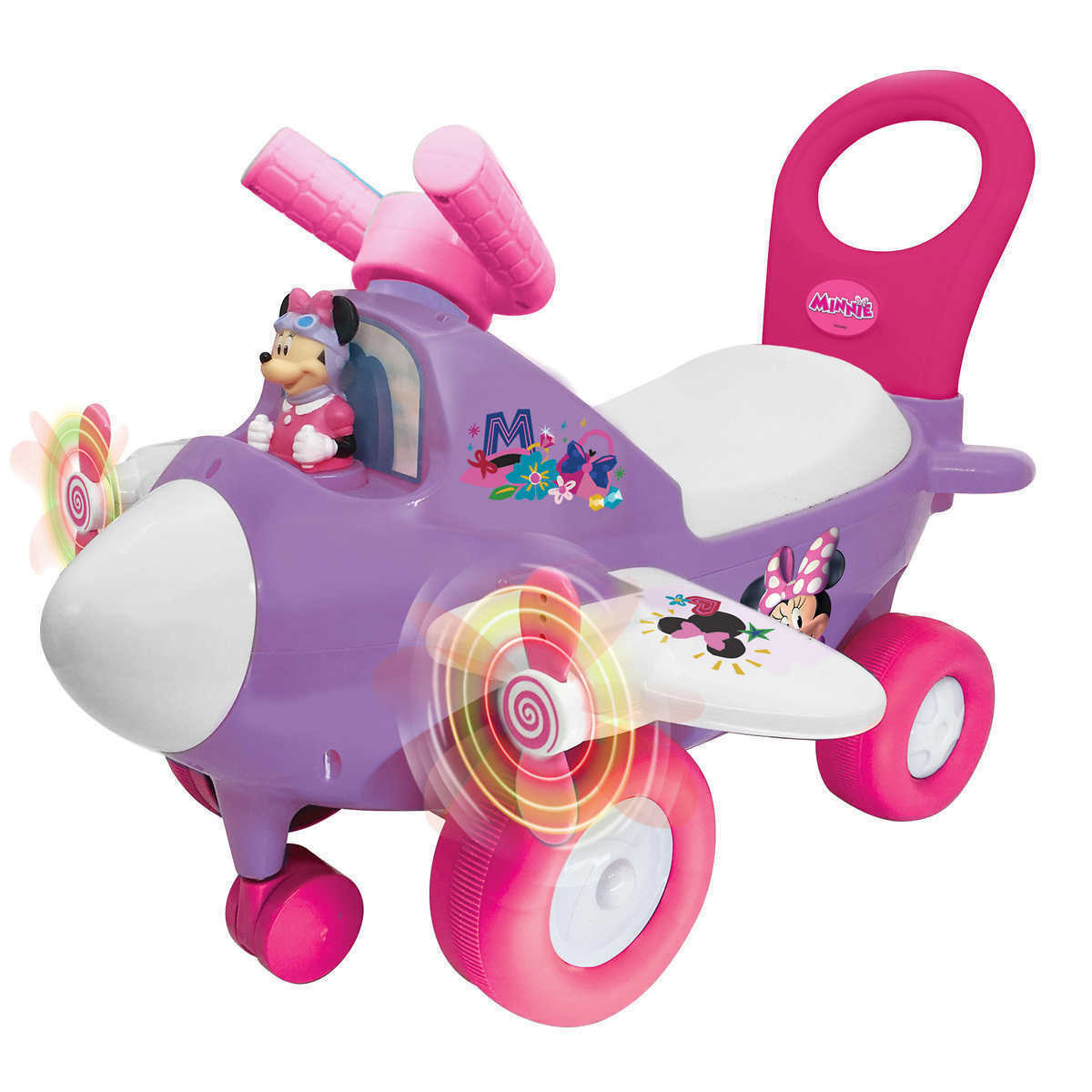 Disney Junior Minnie Mouse Lights N Sounds Activity Plane Ride On Toy