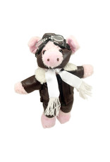 """WHEN PIGS FLY, 8"""" PILOT PIG, PLUSH TOY"""
